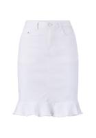 Hvid nederdel
