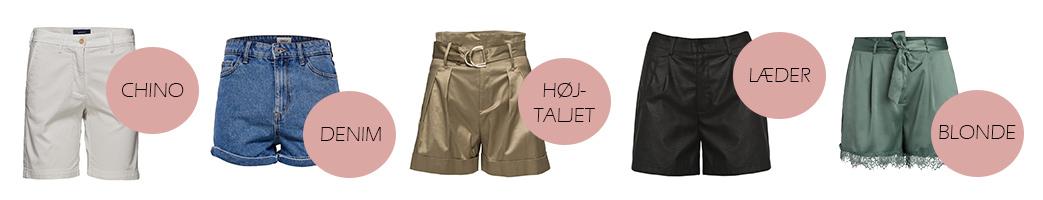 Dame shorts i forskellige styles