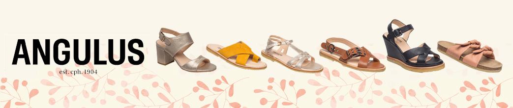 Flade og højhælede sandaler fra Angulus