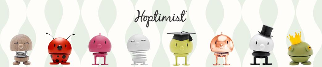 Hoptimist figurer i forskellige designs og farver