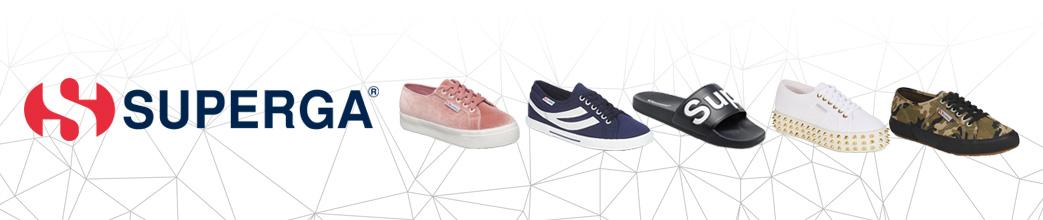 Superga sko i forskellige designs og farver