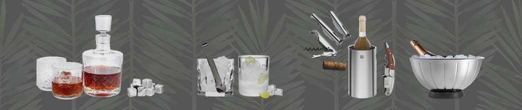 Barudstyr til vin, drinks og cocktails