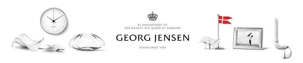 Georg Jensen produkter i sølv og glas