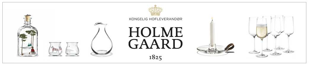 Holmegaard glas til spisebordet og stuen