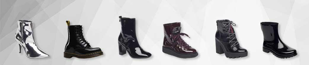 Lakstøvler til mænd og kvinder i forskellige farver og designs