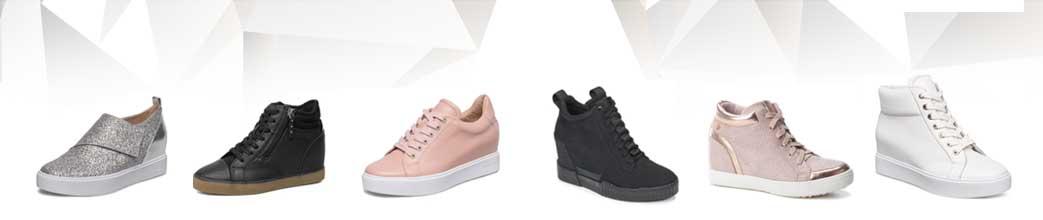Sneakers med kilehæl til kvinder