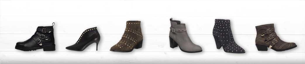 Høje og lave støvler med nitter til kvinder