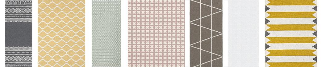 Gulvløbere i forskellige mønstre og farver