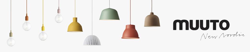 Muuto lamper i farverige designs