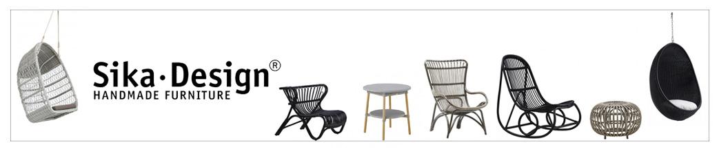Kurvemøbler fra Sika Design i sorte og grå nuancer
