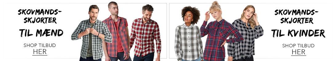 Mænd og kvinder i skovmandsskjorter=