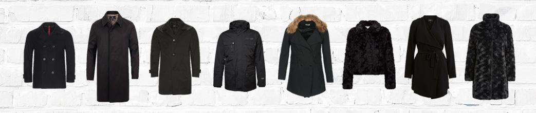 Sorte frakker til mænd og kvinder
