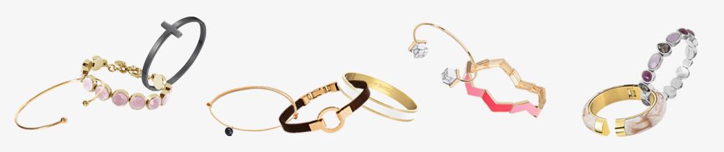 Forskellige armbånd til kvinder i guld og lidt farver