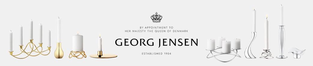 Forskellige Georg Jensen lysestager i sølv og guld