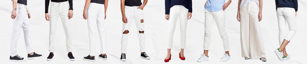 Mænd og kvinder i hvide bukser