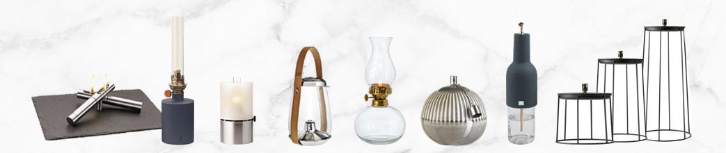 Olielamper i antikke og moderne designs