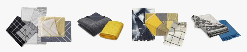 Plaids og quilts i flotte mønstre og farver