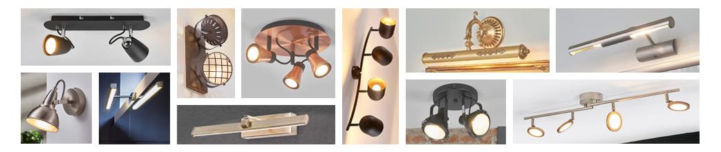 Spots til loft og væg i forskellige designs