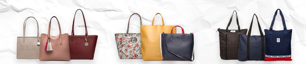 Tote tasker til kvinder i forskellige farver og størrelser