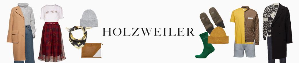 Herre- og dametøj fra Holzweiler + logo i midten