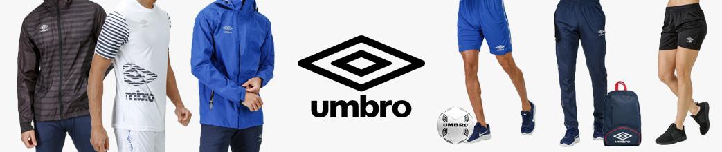 Jakker, shorts og træningsbukser fra Umbro, taske + bold