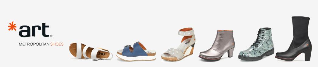 Sandaler, støvler og stiletter fra Art. Hvid, blå, sort og med nitter.