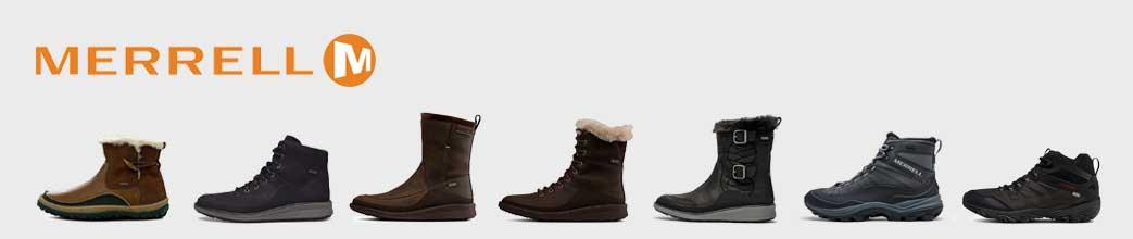 Merrell støvler til herre og dame.