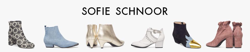 Sorte, hvide, blå og glitter Sofie Schnoor støvletter.
