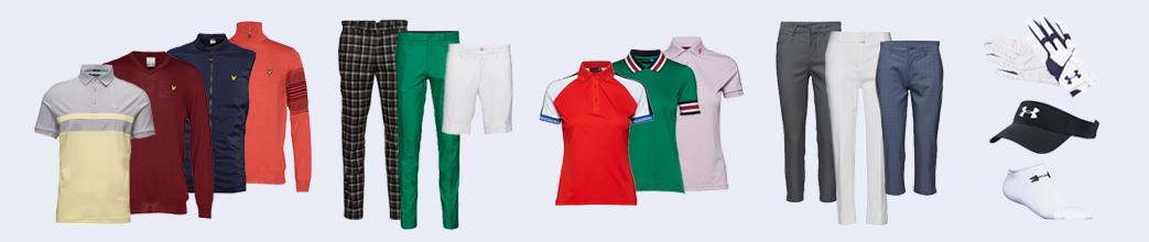 Golftøj til herrer og damer. Poloer, golfbukser og golfshorts.
