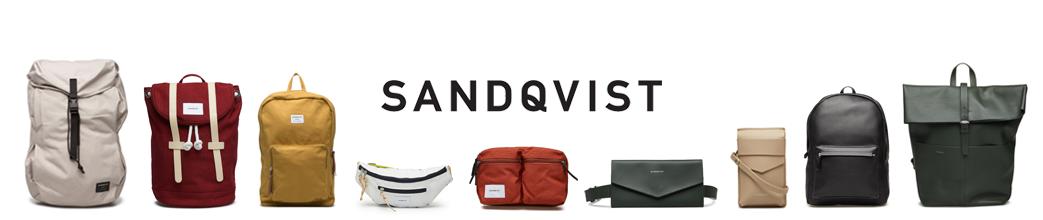 Tasker fra Sandqvist, blandt andet rygsæk og bæltetaske.