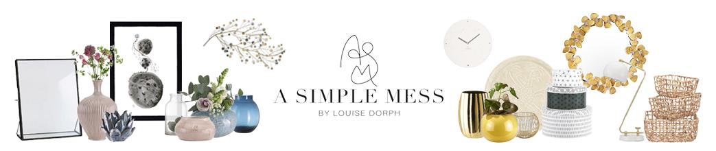 Vaser, spejle, kurve og andet interiør fra A Simple Mess