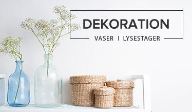 Dekoration - vaser og lysestager
