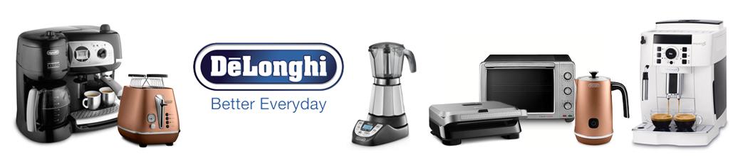 Køkkenmaskiner fra Delonghi: kaffemaskine, blender, mikoovn, mm.