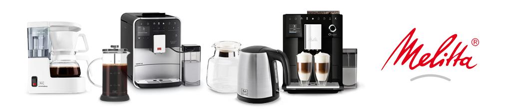 Melitta kaffemaskine, stempelkande og elkedel. God kvalitet.