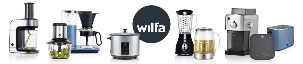 Wilfa køkkenmaskiner, f.eks. kaffemaskine, blender og elkedel.