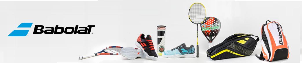 Babolat sportsudstyr. Sko, sportstasker og ketchere til badminton og tennis.