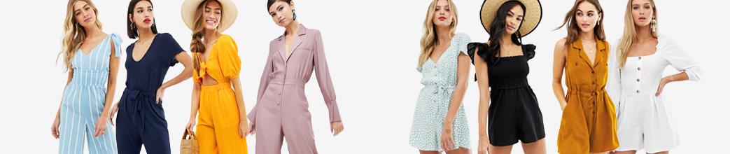 Lange og korte buksedragter fra alle de populære brands. Sort, gul, rosa og hvid.