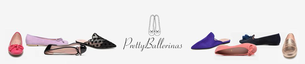 Fine og farverige ballerinaer fra Pretty Ballerinas. Lilla, røde og med prikker.