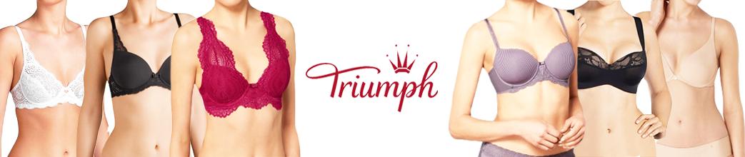 Fine Triumph bh'er med og uden bøjle. Blonde bh, t-shirt bh og trekants bh.