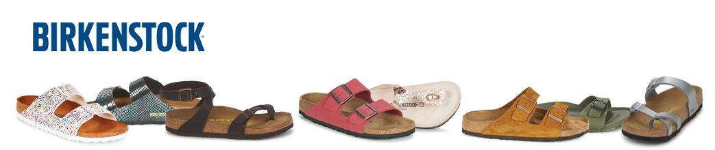 Fine og moderne sko fra populære Birkenstock. Sandaler og klipklapper med remme og spænder.