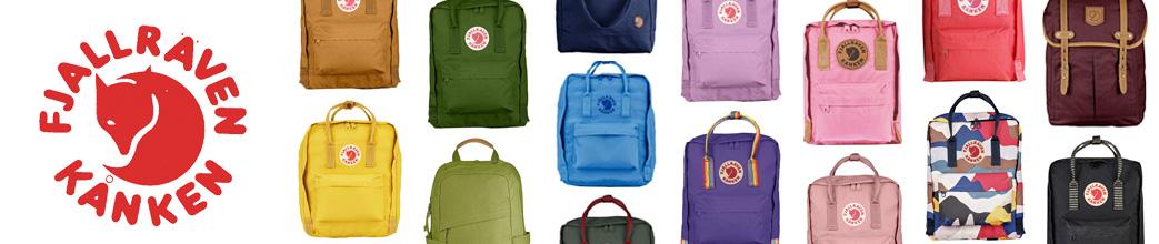 Den ikoniske Fjällräven rygsæk i mange størrelser og farver.