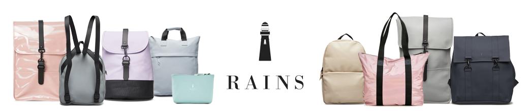 Rains tasker til hverdag og fest. Rygsæk, weekendtaske, skoletaske, mm.