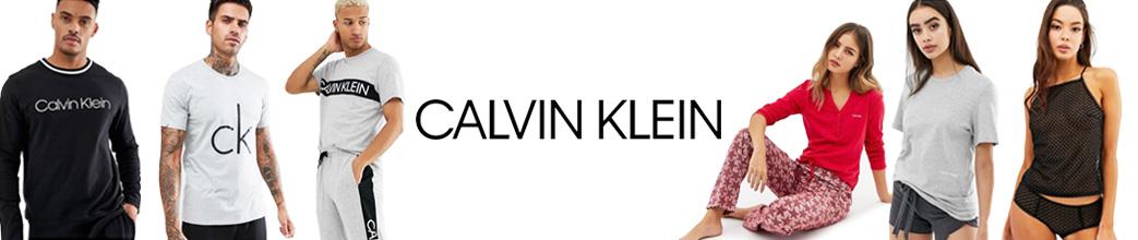 Calvin Klein nattøj på tilbud til herre og dame. Sæt, pyjamas, top, sweatshirt, mm.