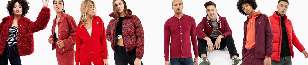 Fede røde jakker til herre og dame. Bomberjakke, vinterjakke, softshell, denim, m.m. Stort udvalg og gode tilbud.