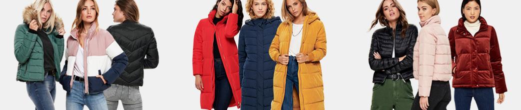 Cool og varme dunjakker til kvinder i mange farver, former og størrelser.