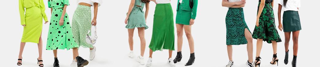 Flotte grønne nederdele i mange stilarter. Korte og lange, med tern og blomster. Stort udvalg og gode tilbud på grønne nederdele.