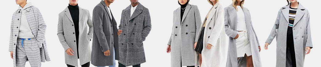 Grå grakker til herre og dame. Stilet og elegant i en uldfrakke fra Samsøe & Samsøe, Vila og mange flere.
