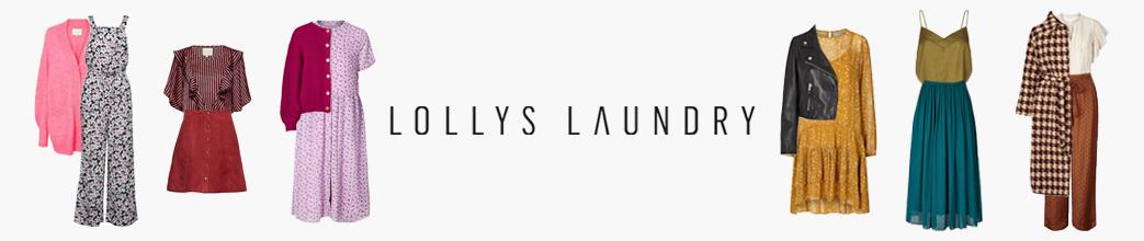 Lollos Laundry tøj på udsalg. Blomstret buksedragt, stribet skjorte og mønstrede kjoler fra Lollys Laundry på tilbud.