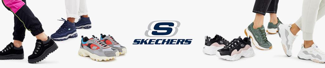 Fede Skechers sko i sort, blå, grå og grøn til herre og dame. Mange størrelser og gode tilbud på Skechers sko.