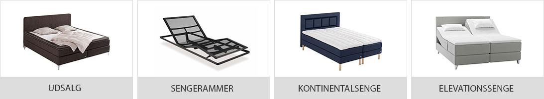 Stort udvalg af senge på tilbud